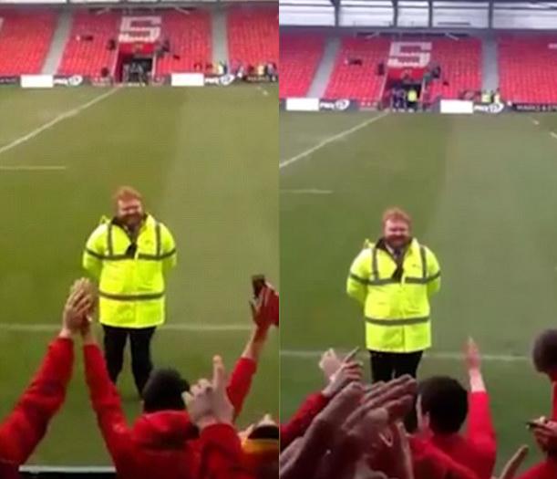 Steward assomiglia ad Ed Sheeran e i tifosi… cantano