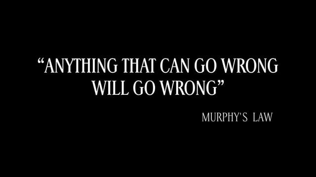 La Legge Di Murphy Applicata Al Bomberismo