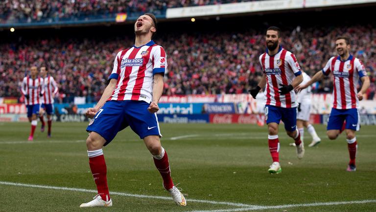Il gol di Saul Niguez contro il Real Madrid