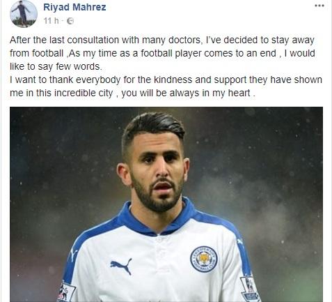 """Mahrez annuncia il ritiro e scoppia il """"caso"""". Ma il giallo è risolto…"""