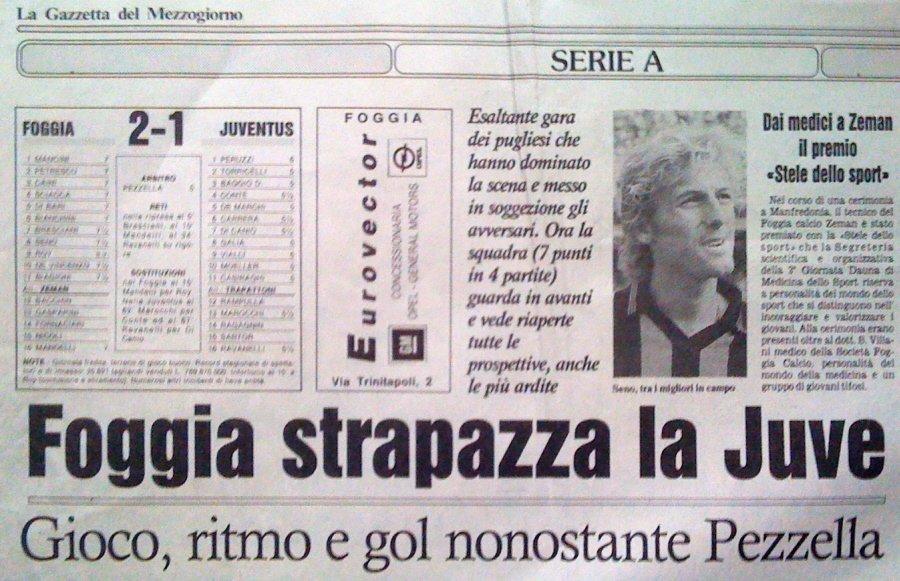 Foggia Juventus Zeman