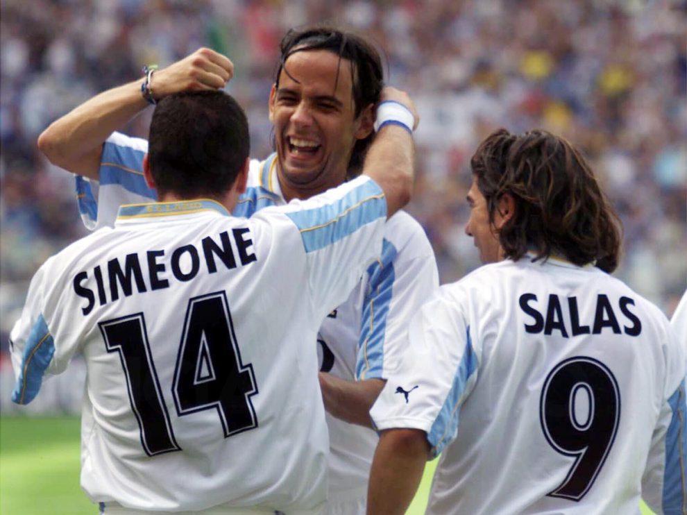Simeone, Simone Inzaghi e Marcelo Salas