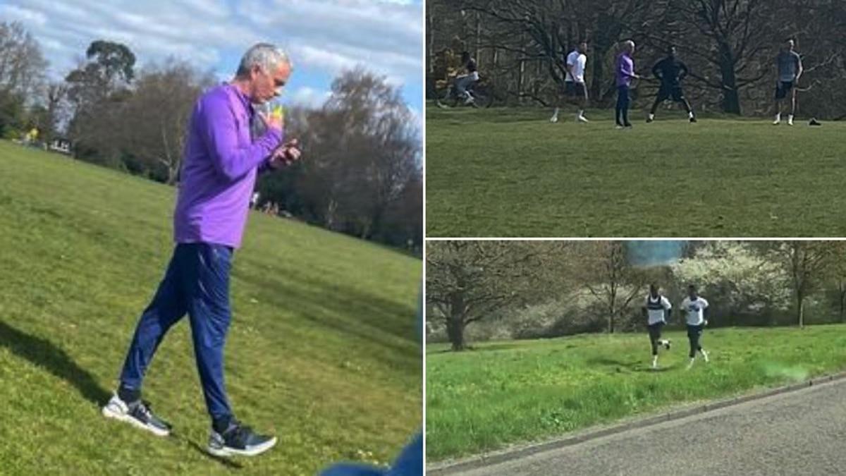 Mourinho allenamento al parco