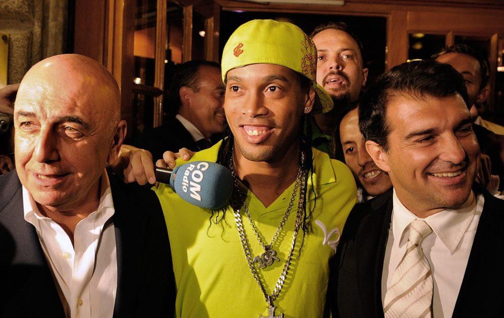 Ronaldinho, Adriano Galliani, Joan Laporta