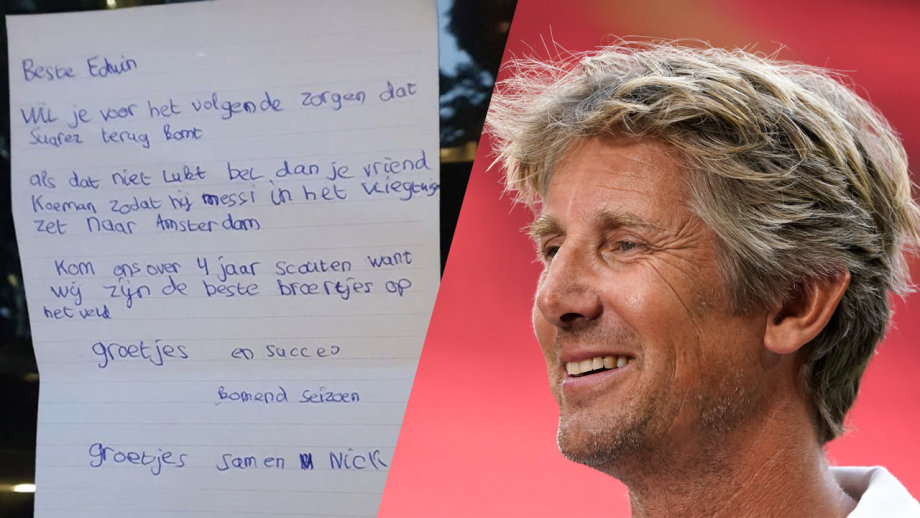 lettera a van der sar
