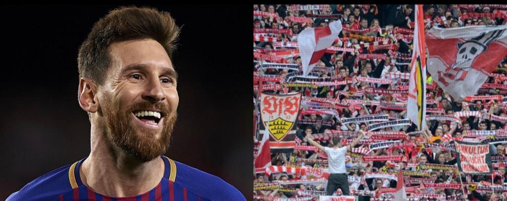 Messi Stoccarda colletta