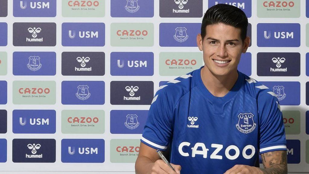 Everton per james Rodriguez