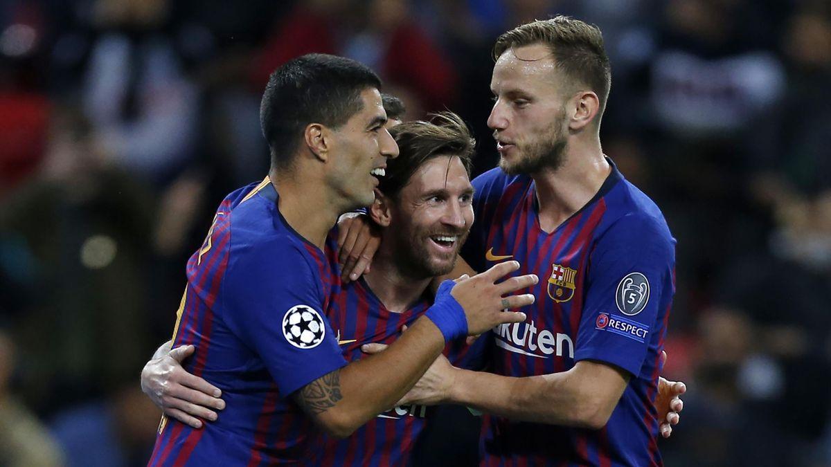 Rakitic Messi Suarez