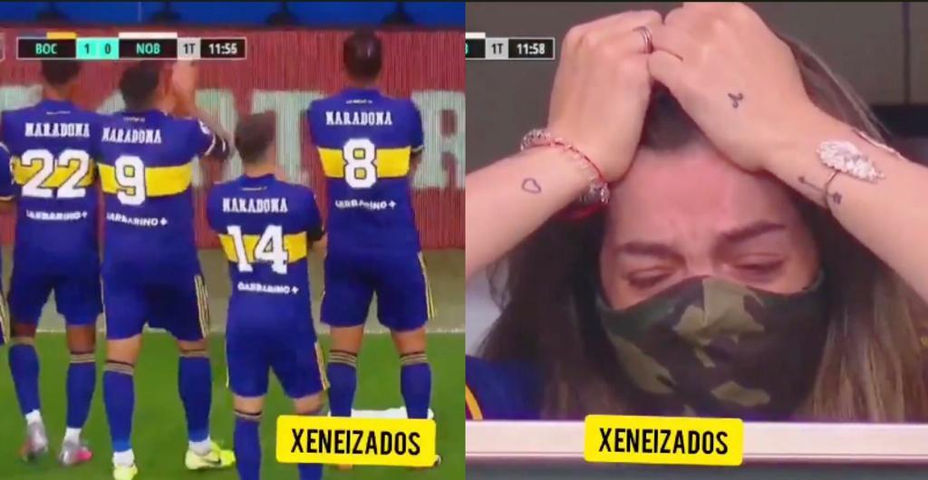 Boca Maradona figlia