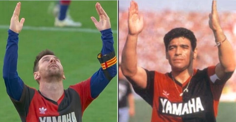 Messi omaggia Maradona