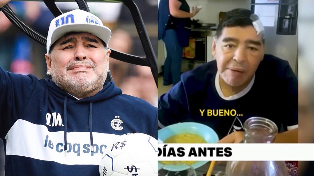 ultimo video Maradona agonia