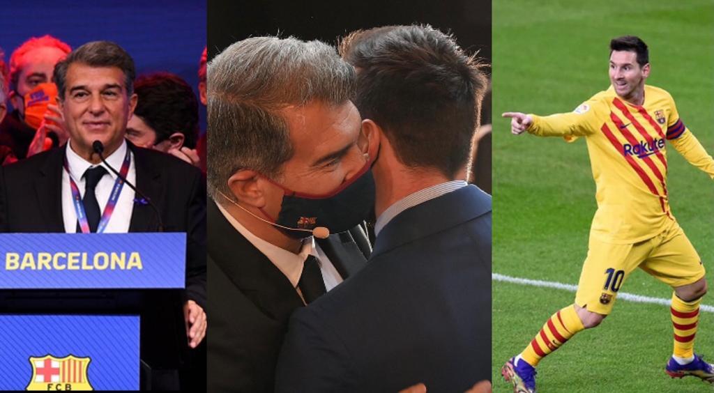 Barcellona piano Laporta Messi