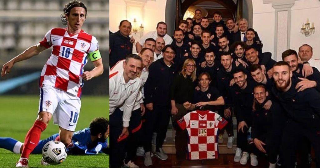 Croazia standing ovation Modric