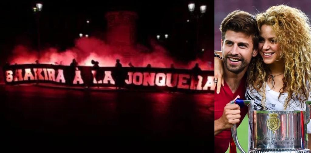 striscione Psg contro Shakira