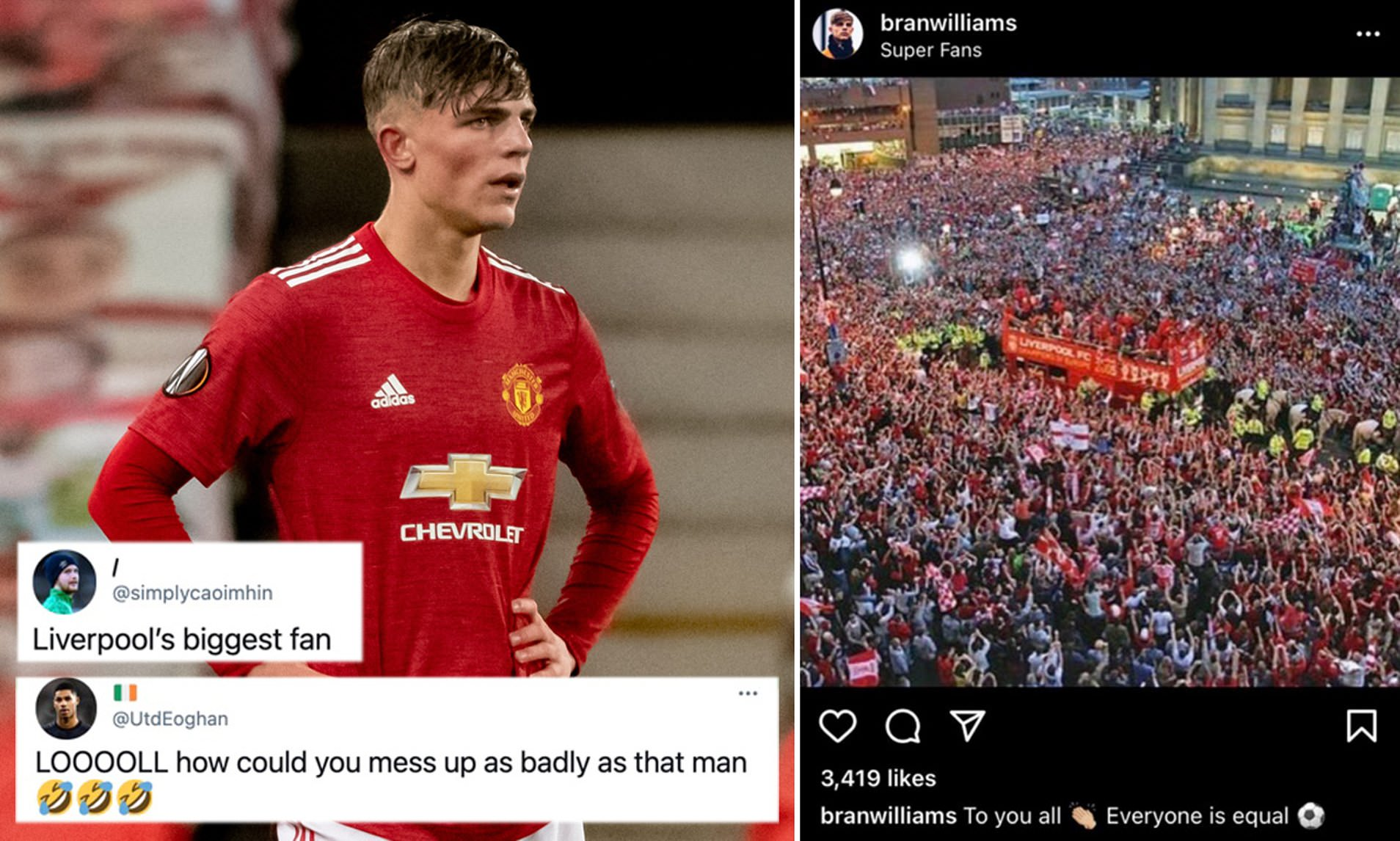 giocatore United parata Liverpool