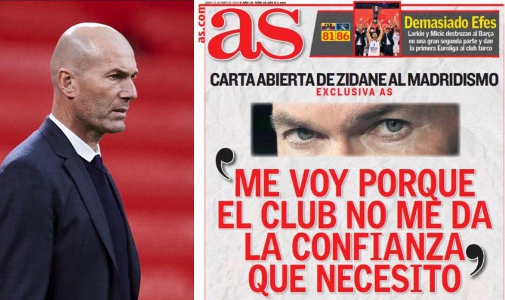 Real Madrid Zidane lettera