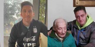 Il videomessaggio di Messi all'anziano super tifoso