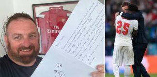 Tifoso scrive lettera a Saka
