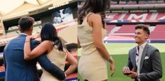 proposta di matrimonio di Llorente al Wanda Metropolitano