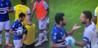 Candreva contro la panchina dell'Inter