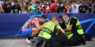 """esordio """"col botto"""" in Champions per Ronaldo: messa ko una steward"""