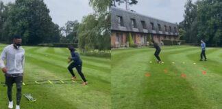 allenamento Evra e Seedorf