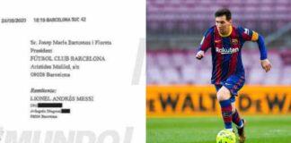 burofax di Messi al Barcellona