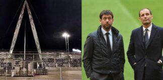 striscioni tifosi della Juventus